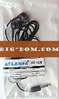 Наушники вакуумные TS-100-AT-100E/25 (в пакетике)