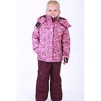 Детский зимний термокомбинезон на мембране для девочки фиолетовый