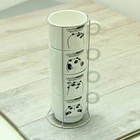 Набор чайный на 4 персоны на подставке Панда