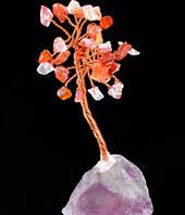 Денежное дерево из натурального сердолика 8 см