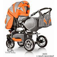 Коляска-трансформер Trans baby Prado lux, оранжевая