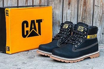 Зимние мужские ботинки CAT (Кэт) черные