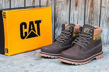Зимние мужские ботинки CAT (Кэт) коричневые