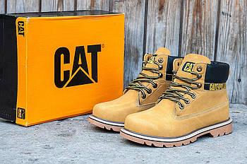 Зимние мужские ботинки CAT (Кэт) рыжие
