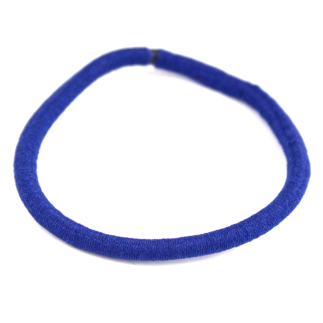 Резинка для волос эластичная синяя