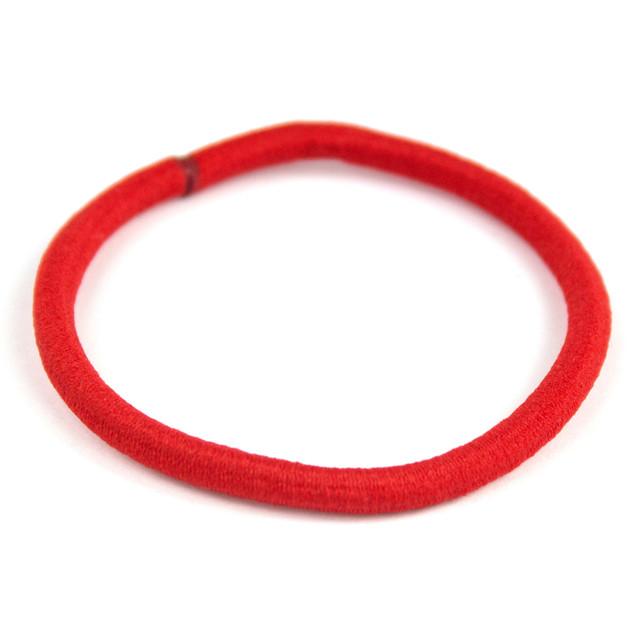 Резинка для волос эластичная красная
