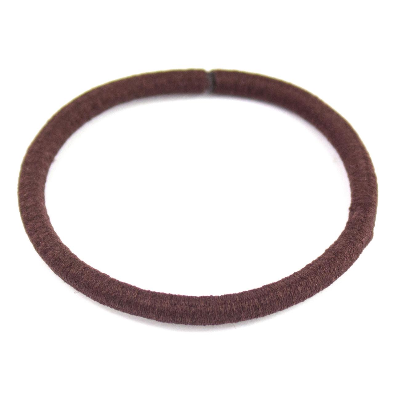 Резинка для волос эластичная коричневая