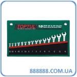 Набор рожковых ключей 15 шт 3,2-14мм 15°х75° GRAJ1501 Toptul