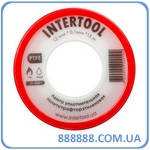 Лента тефлоновая фум политетрафторэтиленовая 15 м x 0.1 мм x 12 мм IT-0001 Intertool