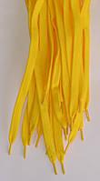 Шнурки плоскі жовткового кольору 120см синтетика