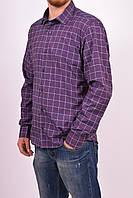 Рубашка мужская  (цв.бордовый/синий) (slim fit)  businessX клетка Размер:44,46,48