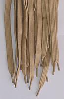 Шнурки плоскі бежеві 120см синтетика