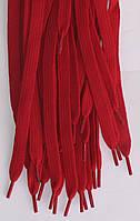 Шнурки плоскі темно червоні 120см синтетика