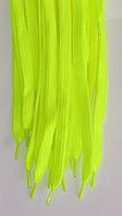Шнурки плоскі лимонні 100см синтетика