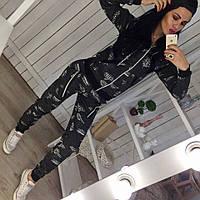 Женский спортивный костюм, турецкая двунитка, р-р 42-44; 44-46 (графит)