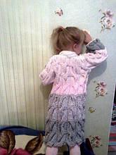 Кардиган для доченьки из остатков пряжи
