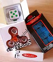 Набор 4шт игрушки антистресс спинер, бесконечный куб, мокуру, фиджет куб