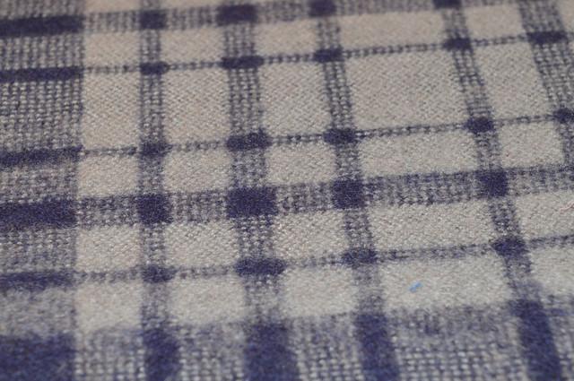 Кашемировая ткань в синих цветах шарф ночная синь 4