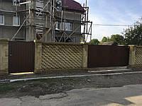 Откатные ворота собственного производства с профнастил, фото 1