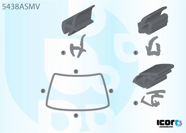 Молдинг лобового стекла на MERCEDES VIANO / VITO (W639) 2003-2010 , фото 2