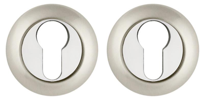 Накладка под цилиндр Fuaro ET RM матовый никель/хром (Китай)