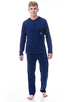 Трикотажная мужская пижама брюки и кофта