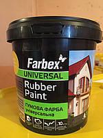 Краска резиновая светло-зеленая Farbex 1,2 кг