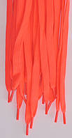 Шнурки плоские темно розовые 120см синтетика