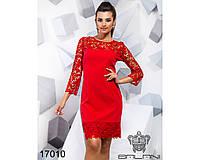 Платье с гипюром - 170109 (б-ни), фото 1