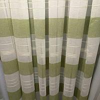 Тюль с полосой на батисте. Цвет : полоса зеленая
