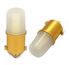Светодиодная белая (White) автолампа BA9S 12-3014SMD Canbus 360 Degreee brightness Glue on top