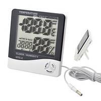 Цифровой термо-гигрометр HTC-2 (0-50 С; 10%…99%) с выносным датчиком (термопарой -50...+70°C)