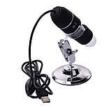 Цифровой микроскоп USB Magnifier SuperZoom 50-500X с LED подсветкой, фото 3