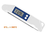 Термометр для мяса складной Vershold FCT0224p-15 ( 0-200 С ). Польша (Цвет: синий, оранжевый, серый)