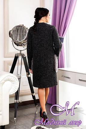 Женское батальное пальто с чернобуркой (р. 44-58) арт. 966 Тон 260, фото 2