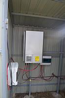 Подключение сетевого солнечного инвертора OMRON KP 100L-OD-EU (10 кВт, 3 фазы, 3 МРРТ) и комплекта защитной автоматики