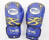 Рукавички боксерські PVC на липучці Twins TW-8B 8 oz синій