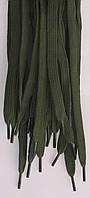 Шнурки плоские цвета хаки 120см синтетика