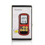 Цифровой двухканальный термометр Benetech GM1312 (от -50 до 300 ºC) с двумя термопарами К-типа, фото 8