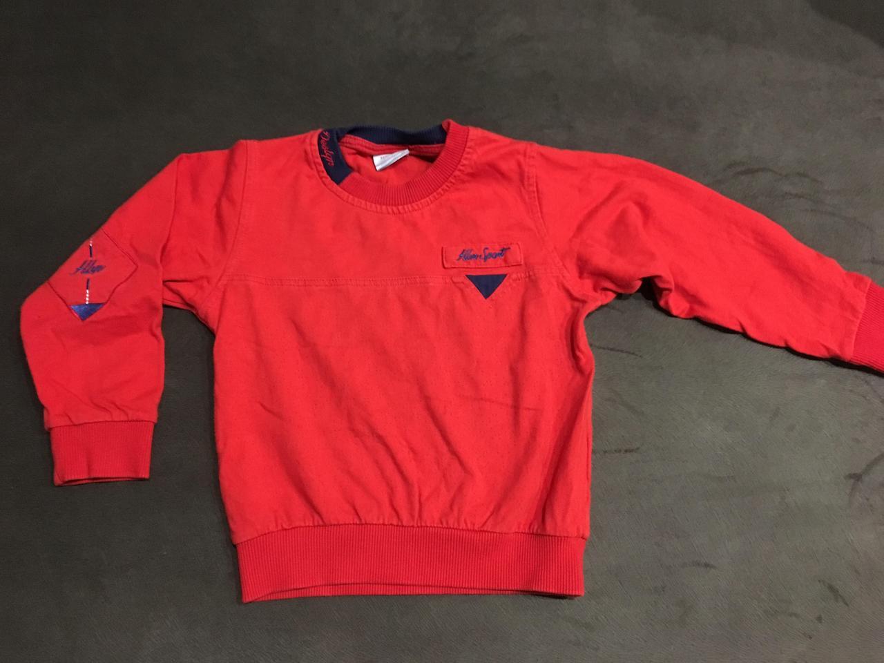 Детский свитер красный б/у