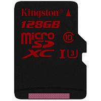 Карта памяти Kingston 128GB microSDXC class10 UHS-I U3 (SDCA3/128GBSP)