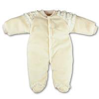Детский мягкий тёплый комбинезон с рюшами, на кнопках, на рост - 74, 80 см. (арт.12-17)