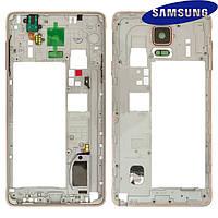 Средняя часть корпуса для Samsung Galaxy Note 4 N910H, золотистая, оригинал