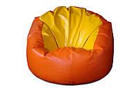 Желтое большое кресло мешок из кож зама Родео