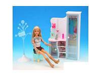 Мебель для куклы шкаф с аксессуарами