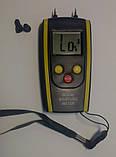 Влагомер дерева и строй материалов HT-610 ( DT-61 ) (дерево: 6-48%; строй материалы 0,1-11%) с термометром, фото 2