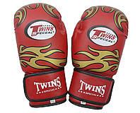 Рукавички боксерські PVC на липучці Twins TW-10R 10 oz червоний