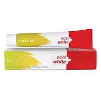 """Зубна паста Edel + White """"Сіль життя"""" трав'яна з сіллю швейцарських Альп, 75 мл"""