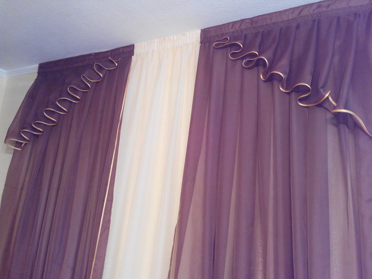 Комплек штор из вуали