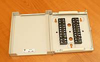 Коробка распределительная КР-2, настенная, на 10 пар (20 контактов), стальная, на винте